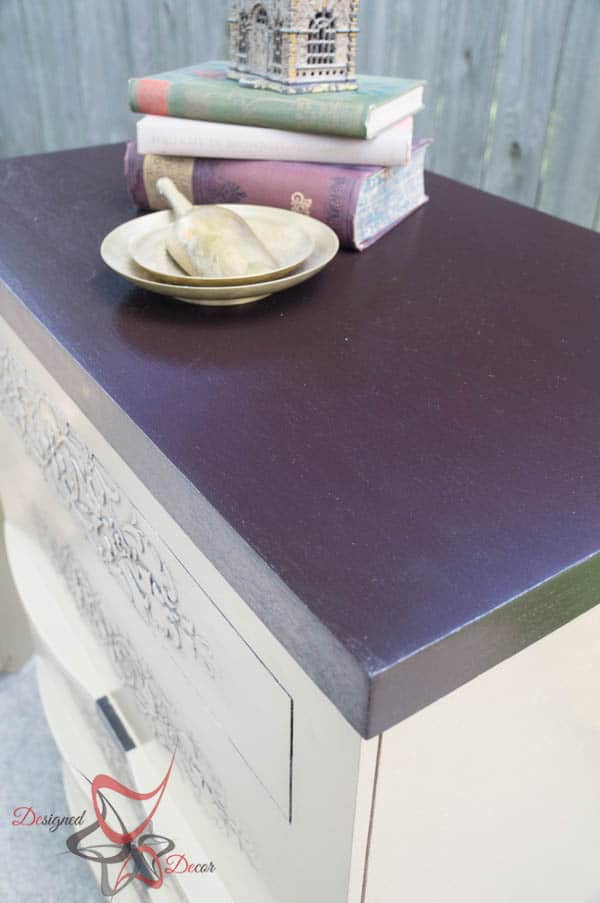 Embossed Dressers~ Wood Icing ~ Modern Masters- Stained with Java Gel