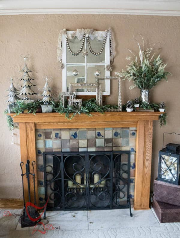 Christmas Mantel 2014- Home for the Holidays Blog Tour