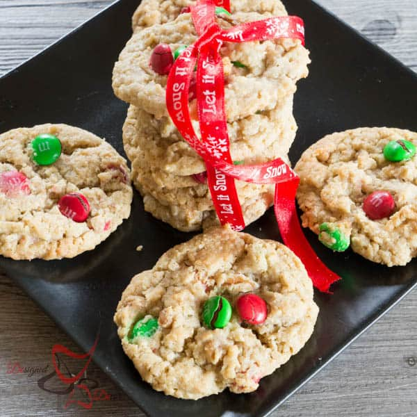 Holiday Oatmeal Cookies-Holiday Cookie Round-up