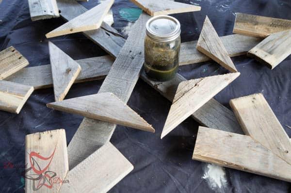 Homemade wood stain using steel wool and vinegar