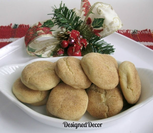 Snickerdoodle Cookies-Holiday Cookie Round-up