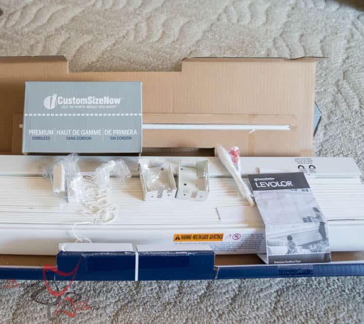 -Custom Size Now- Levolor Faux Wood Blinds