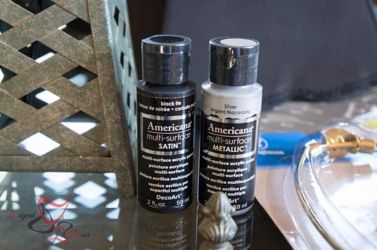 Americana Multi Surface Paint- Lamp Makeover-