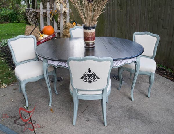 French Provencial Dining Table Makeover