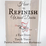 How to refinish Wood doors- graphic