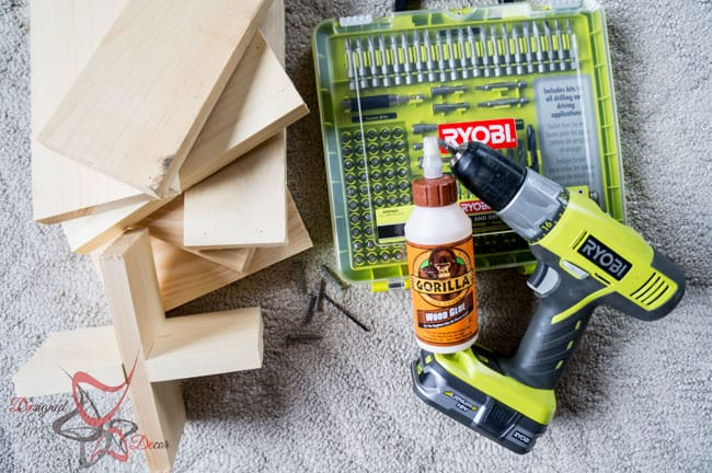 1 Power Tool Challenge- Garden Tool Box- Mason Jar Caddy-Wine Rack-4