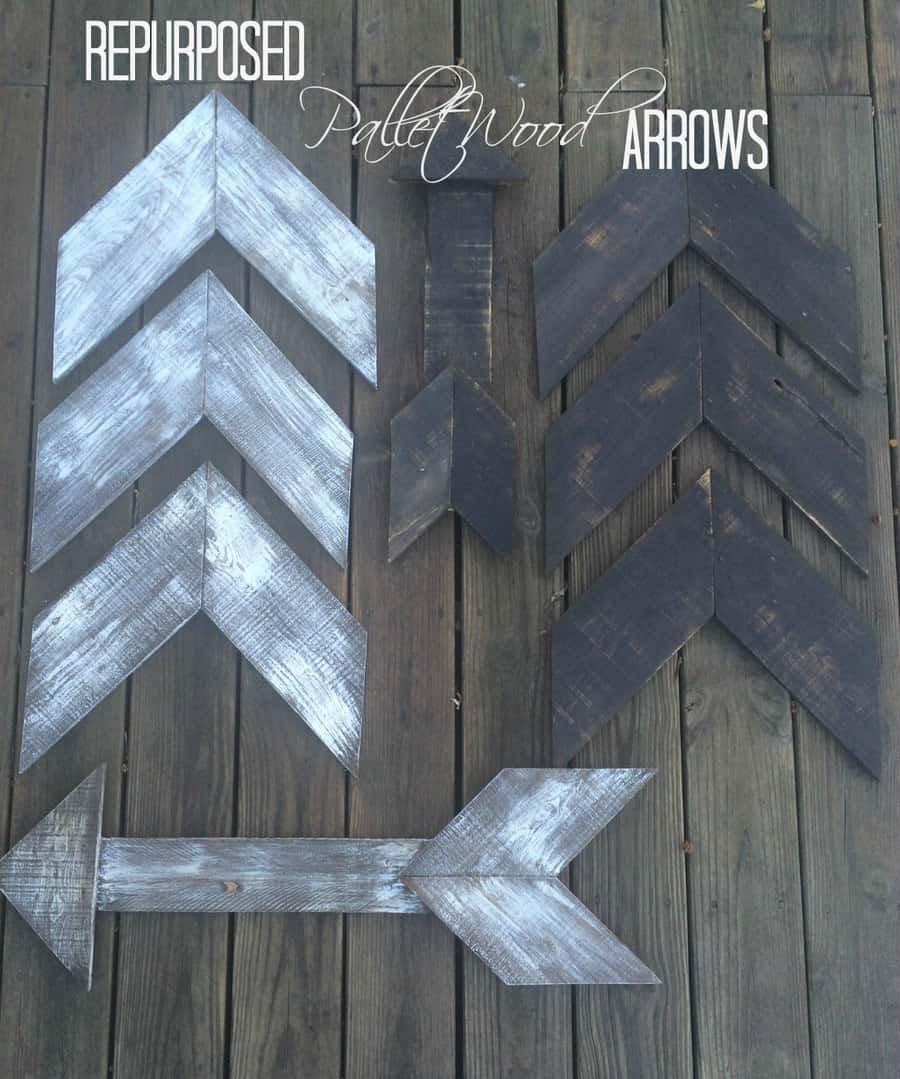 Repurposed Pallet Wood Arrows!