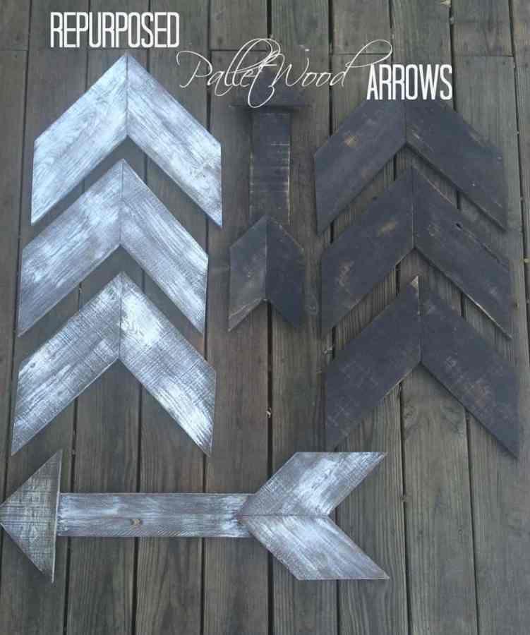 reclaimed wood arrows- repurposed pallet wood arrows - pinnable