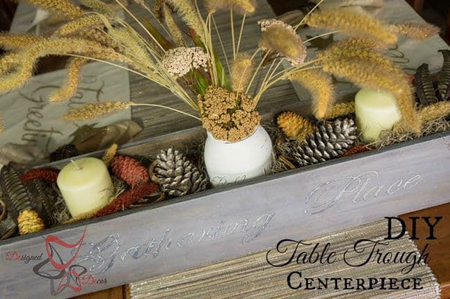 DIY-Table Trough-Centerpiece-Tablescape Pinnable