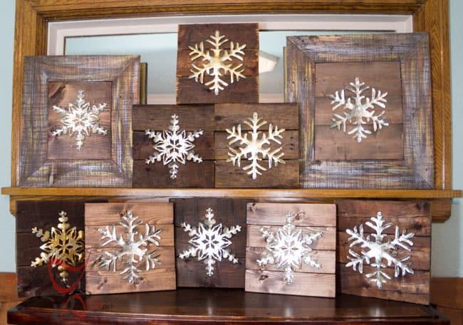 DIY-Wood Block Metal Snowflake - Holiday Decor- Wall Decor- (4 of 13)