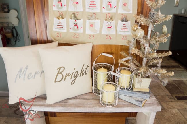 So Sew Easy Pillow Cover- DIY- Stenciled Fabric - Advent Calendar (16 of 27)