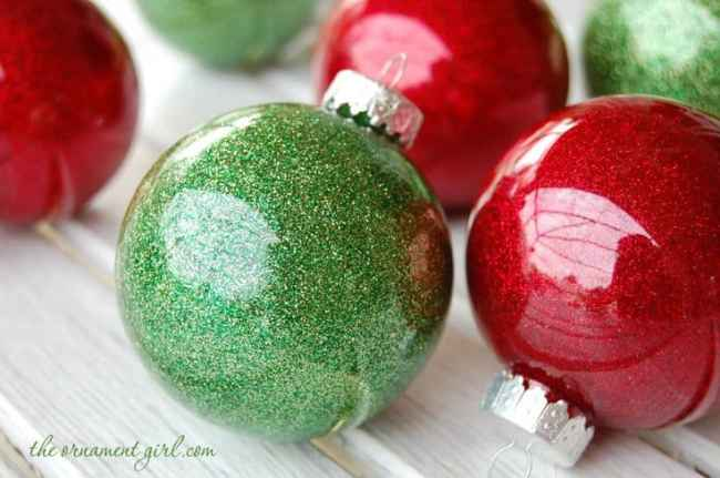 glitter glass ornaments