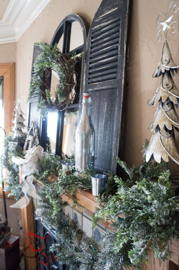 Decorating the Christmas Mantel - DIY- Christmas Decorating on a Budget- Staging a Mantel (31