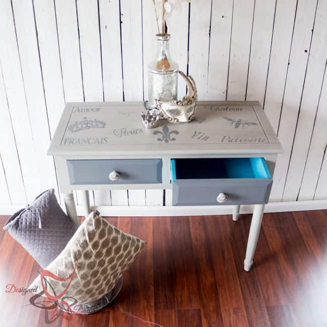 French-Stenciled-Entry-Table-Painted- Furniture (6 of 12)