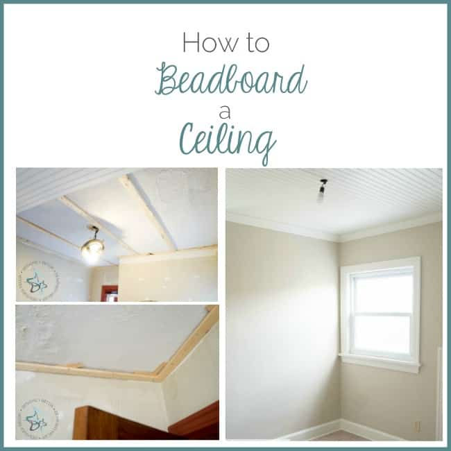 How to Beadboard a ceiling