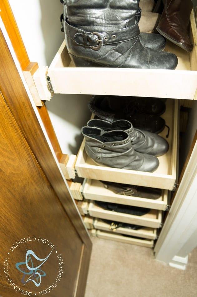 Shoe Closet- Building Pull Out Shelves-20