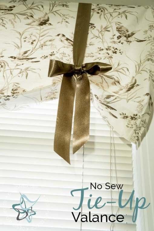 No Sew Tie Valance!