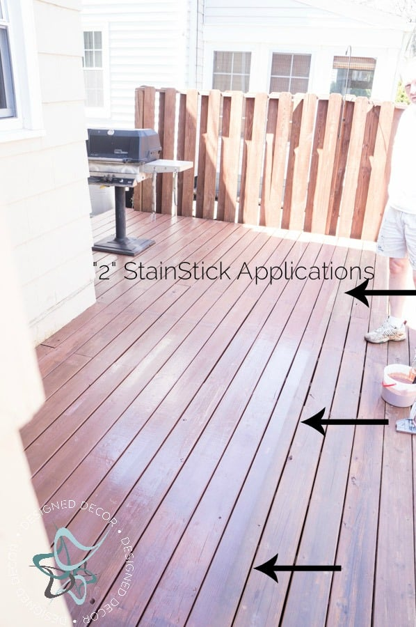 StainStick-Gap Wheel-HomeRight-Stain Applicator-second application