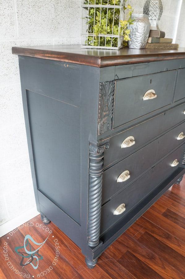 Carved Empire Dresser-Rustic Glam-11