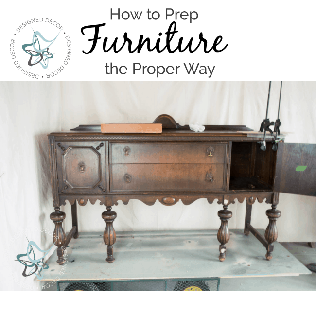 How to prep Furniture the proper way