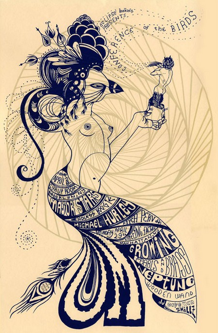 Maya Hayuk drawing