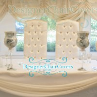 Luxury Throne chairs for the sweetheart table