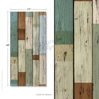 Removable Scrap Wood Wallpaper - Peel & Stick