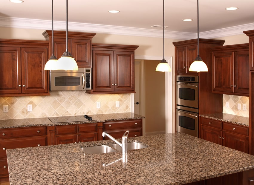 Mahogany Kitchen Cabinet  37 L Shaped Designs Layouts Pictures