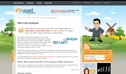 SEO Link Analysis Firefox Extension