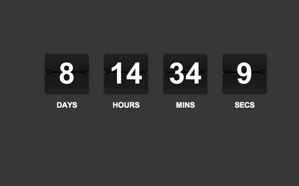 clock rolodex countdown jquery tutorial