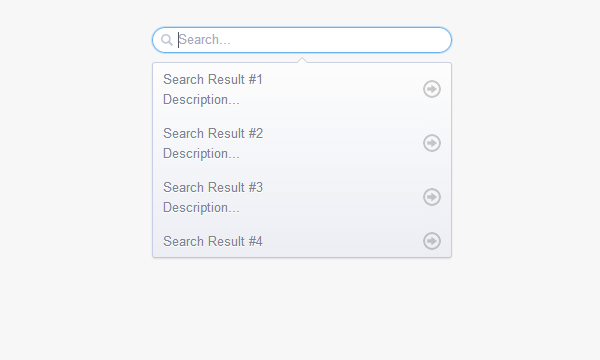 search input dropdown menu suggested open source