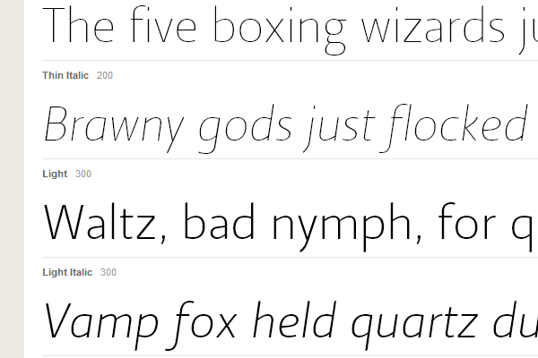 big sans-serif typekit website webfont