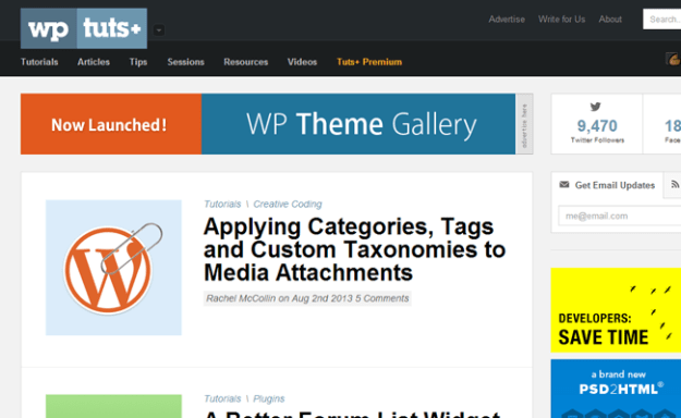 wordpress tuts+ magazine tutorials blog