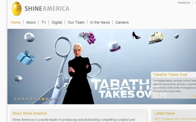 shine america production company layout design