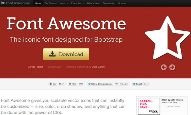 font awesome open source icons webfont iconfont