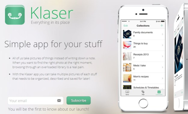 iphone app website green simple layout design startup