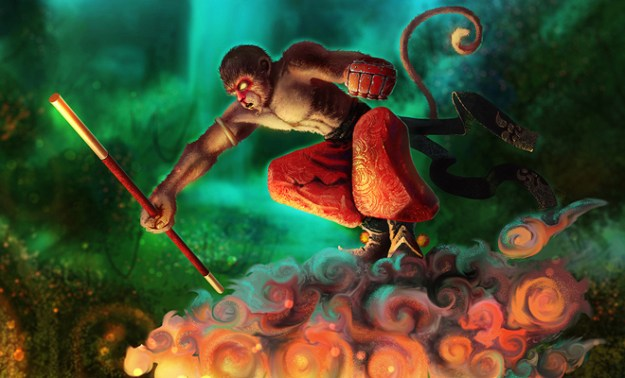 fire monkey illustration artwork concepts