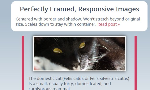 perfect responsive frame images css