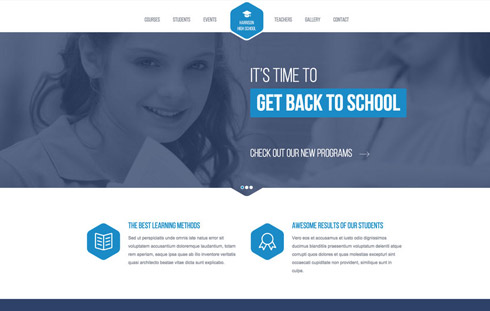 Free Responsive Website Template for Schools