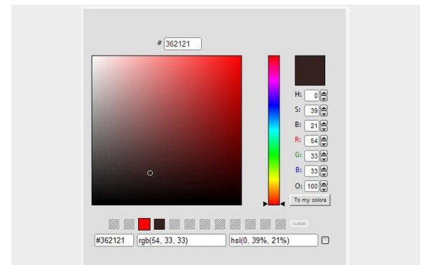 color picker extension opera design browser