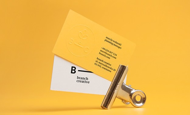 branch creative inspiration print business cards