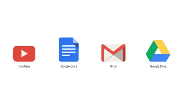 flat google icons youtube drive gmail css