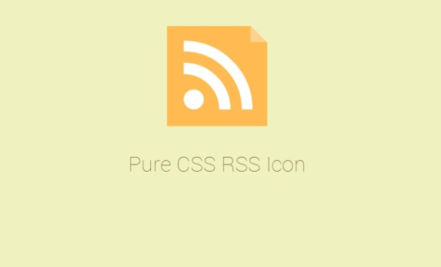 pure css icon design rss feed icon