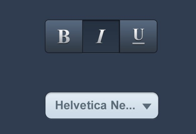 3 button group and select menu ios elements