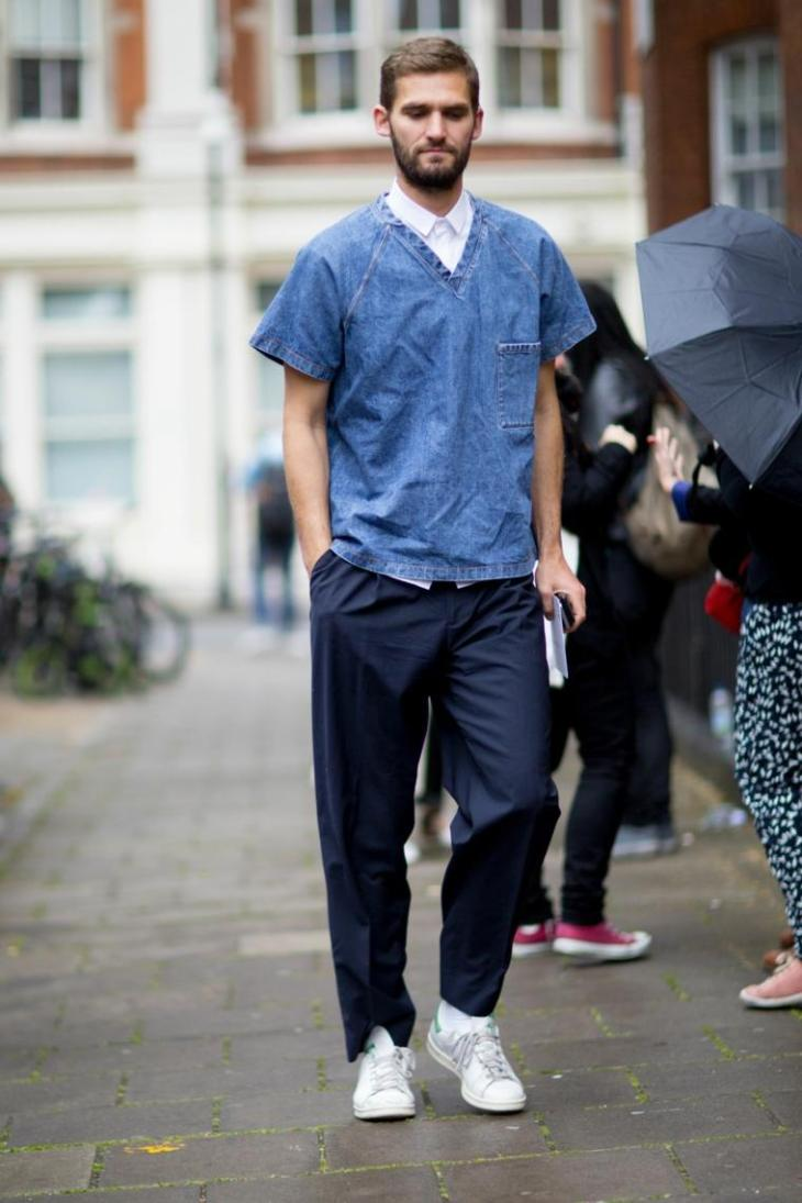 homme tendance mode blouse jean pantalon baskets tendance adidas