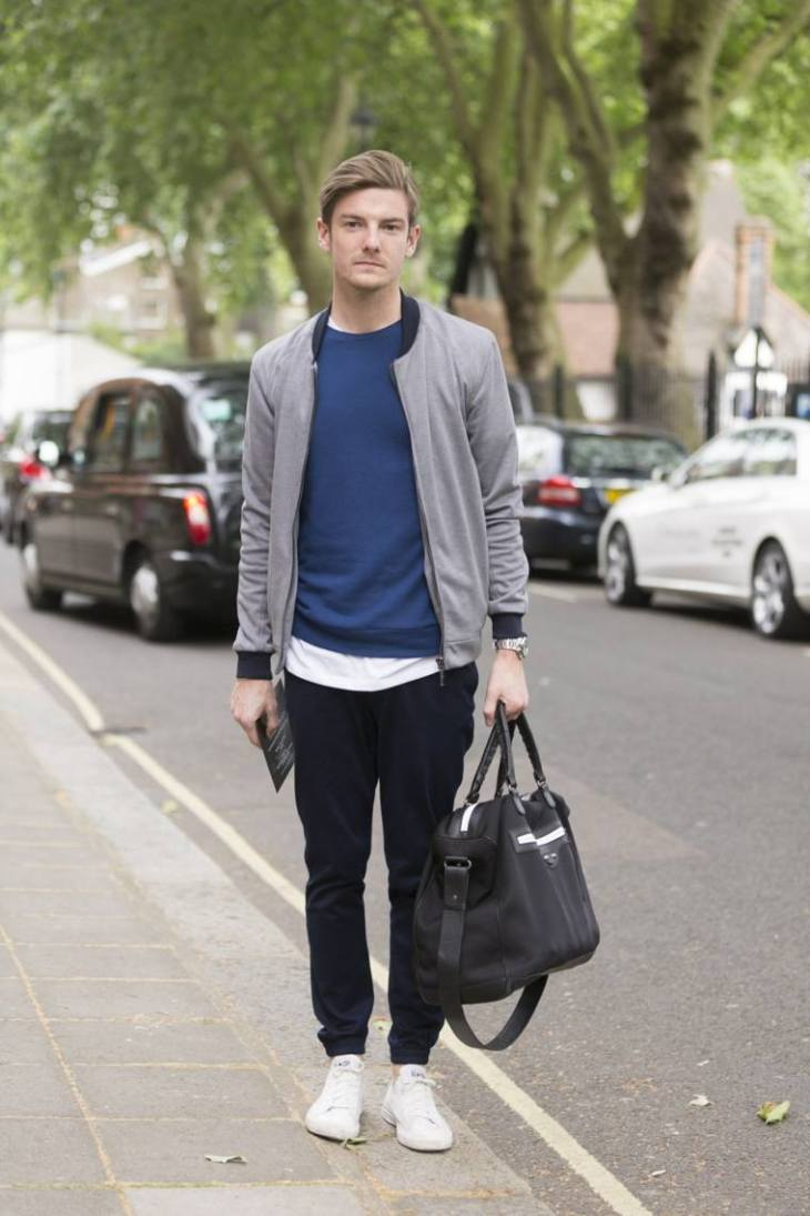 tendance mode homme veste grise tendance sac homme idée