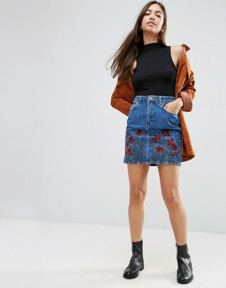 mode 2016 femme minijupe jeans tendance mode été printemps