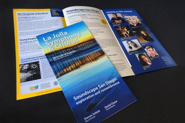 image of the La Jolla Symphony and Chorus Season brochure for 2015-2016