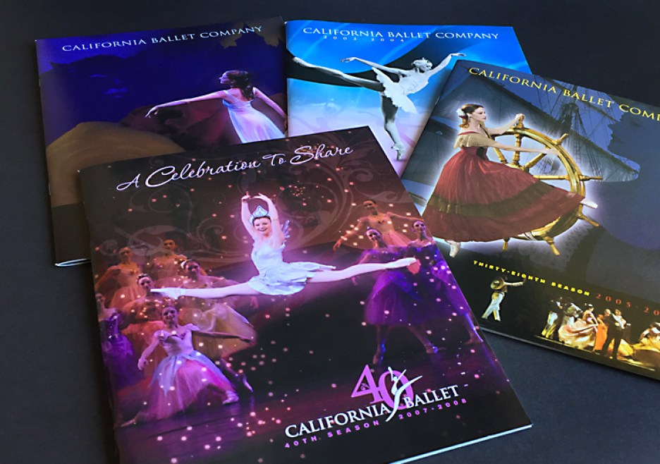 image of 4 California Ballet season brochures