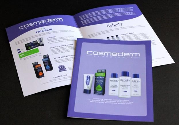 image of Cosmederm Bioscience brochure